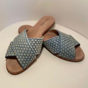 Splendid Baron Cross Slide Sandals Size 10